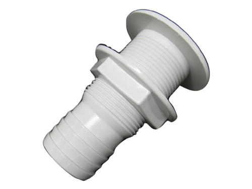 "1 1/4"" White Plastic Drain Socket For Boats - 32MM Screw Marine Chandlery"